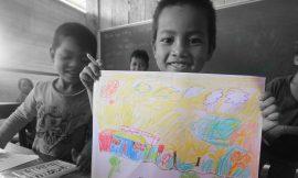 Ngôi trường trong tranh của những em bé miền cao