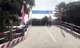Cầu Hy Vọng mới hoàn thành tại vùng sâu miền Tây