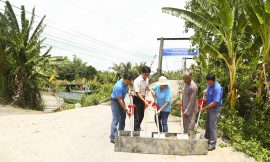 Quỹ Hy Vọng khởi công cây cầu thứ 35 tại miền Tây